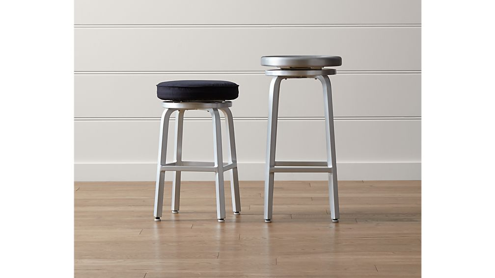 ... Spin Swivel Backless Counter Stool ...  sc 1 st  Crate and Barrel : backless kitchen counter stools - islam-shia.org