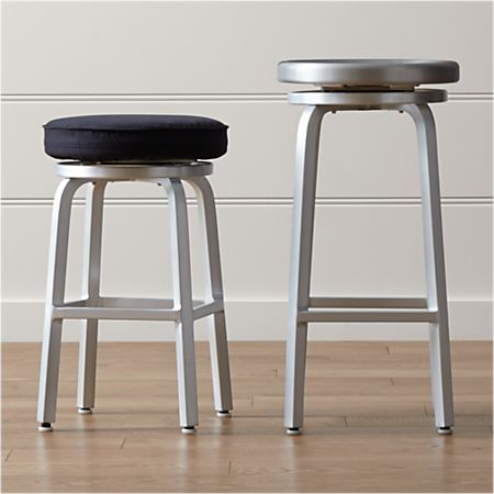 Swell Spin Swivel Backless Bar Stools And Cushion Machost Co Dining Chair Design Ideas Machostcouk