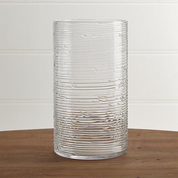 Spin Glass Extra Large Hurricane Candle Holder Vase Crate And Barrel