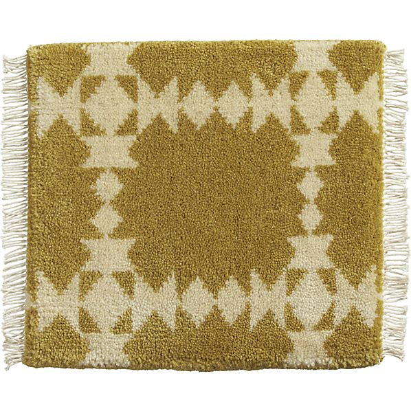 "Spindle Gold 12"" sq. Rug Swatch"