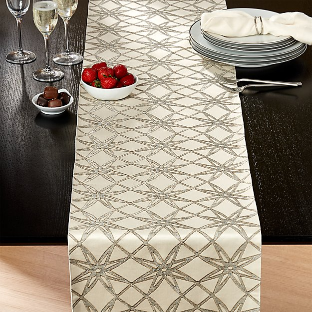 Spiro embroidered 120 table runner crate and barrel for 120 table runner christmas