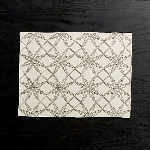 Spiro Stars Embroidered Placemat