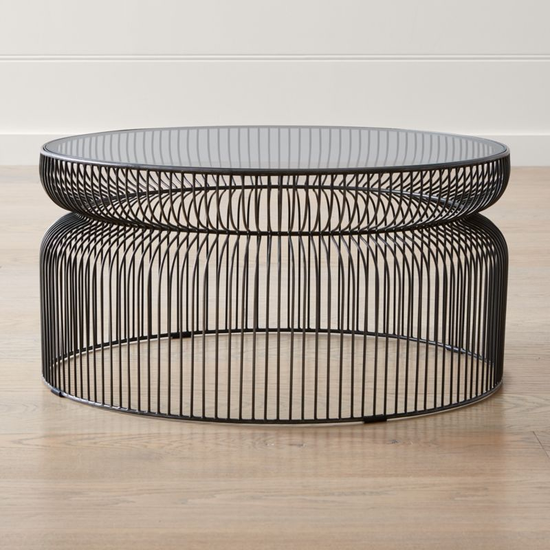 Glass Coffee Tables Next: Spoke Glass Graphite Metal Coffee Table + Reviews