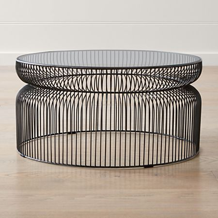 Spoke Gl Graphite Metal Coffee Table