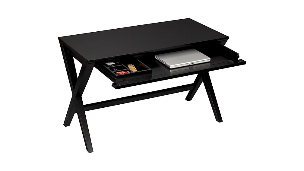 "Spotlight Ebony 48"" Writing Desk"