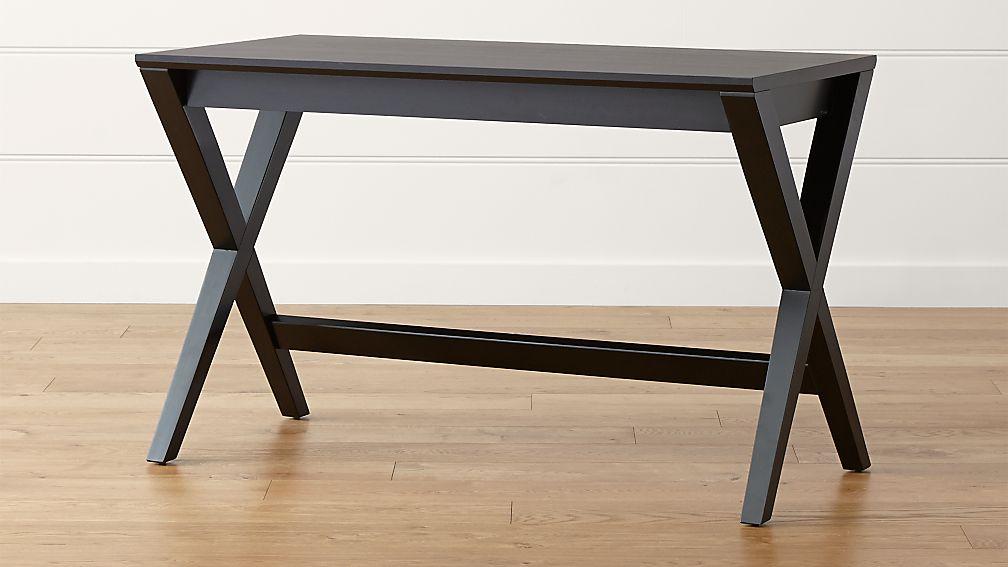 "Spotlight Ebony 48"" Writing Desk - Image 1 of 12"