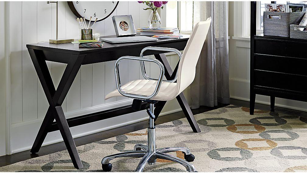 "Spotlight Ebony 48"" Writing Desk"