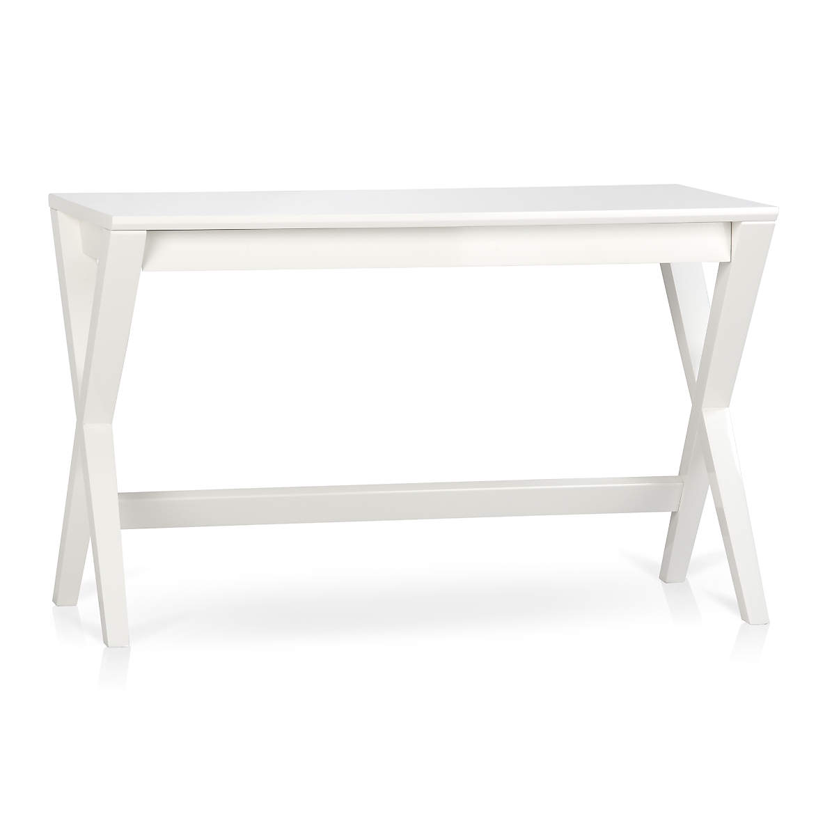 Spotlight White 48 Writing Desk Reviews Crate And Barrel Canada