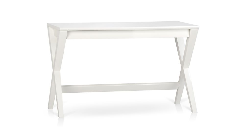 Spotlight White 48 Writing Desk Crate And Barrel