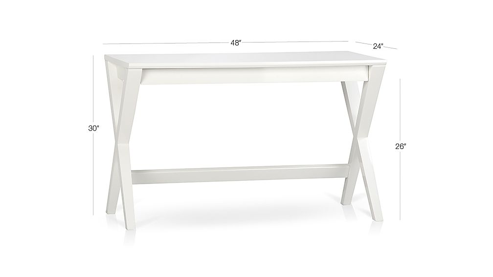 Spotlight white quot writing desk crate and barrel