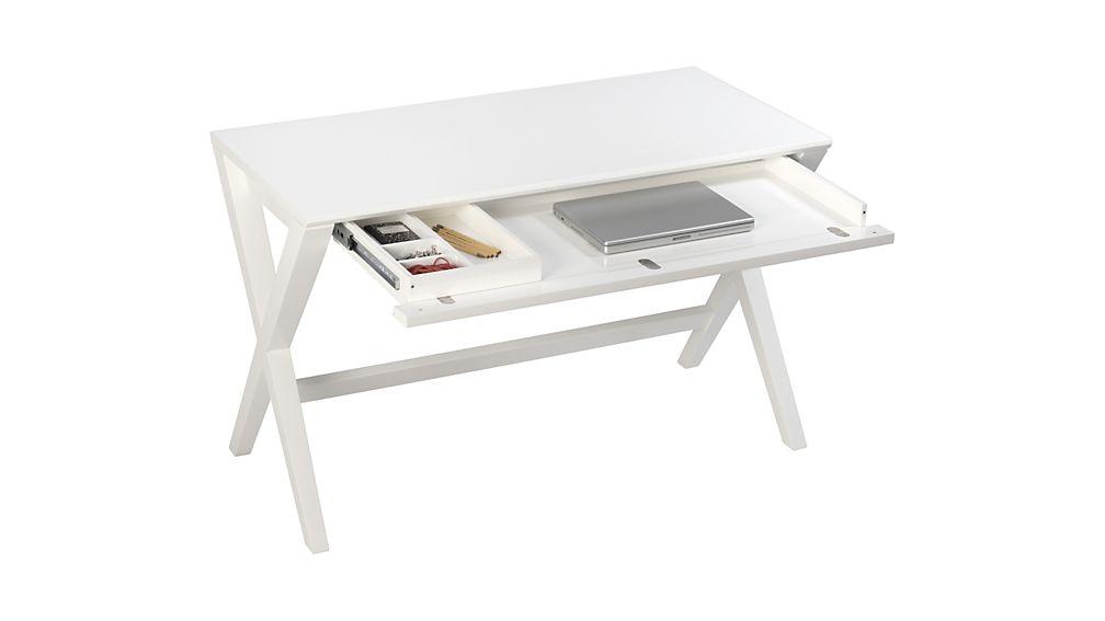 """Spotlight White 48"""" Writing Desk"""