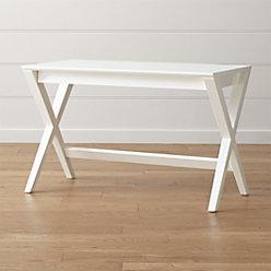 Spotlight White X Leg Desk 58 Quot Reviews Crate And Barrel