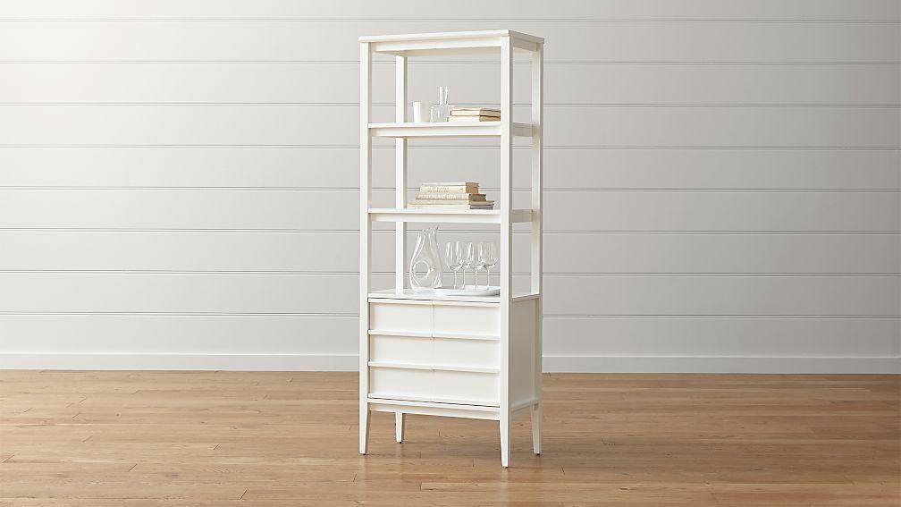 Spotlight White Bookcase In Bookcases Reviews