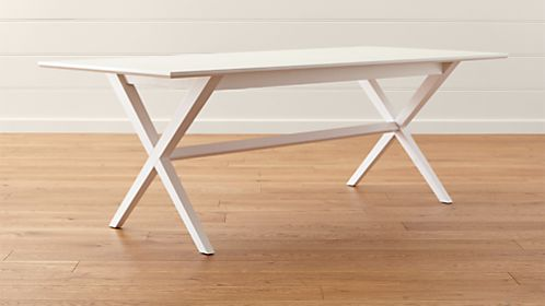 crate and barrel trestle extension dining table gallery