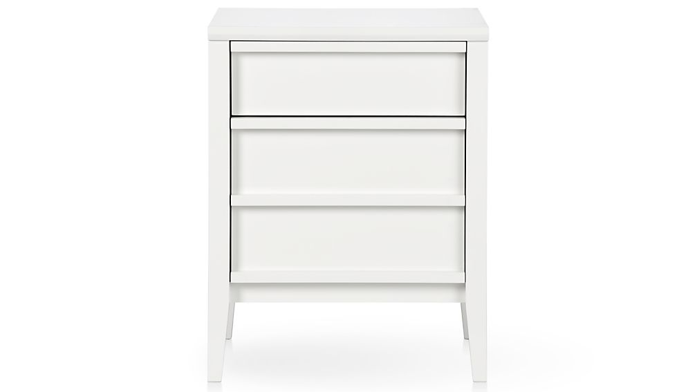 Spotlight White File Cabinet | Crate and Barrel