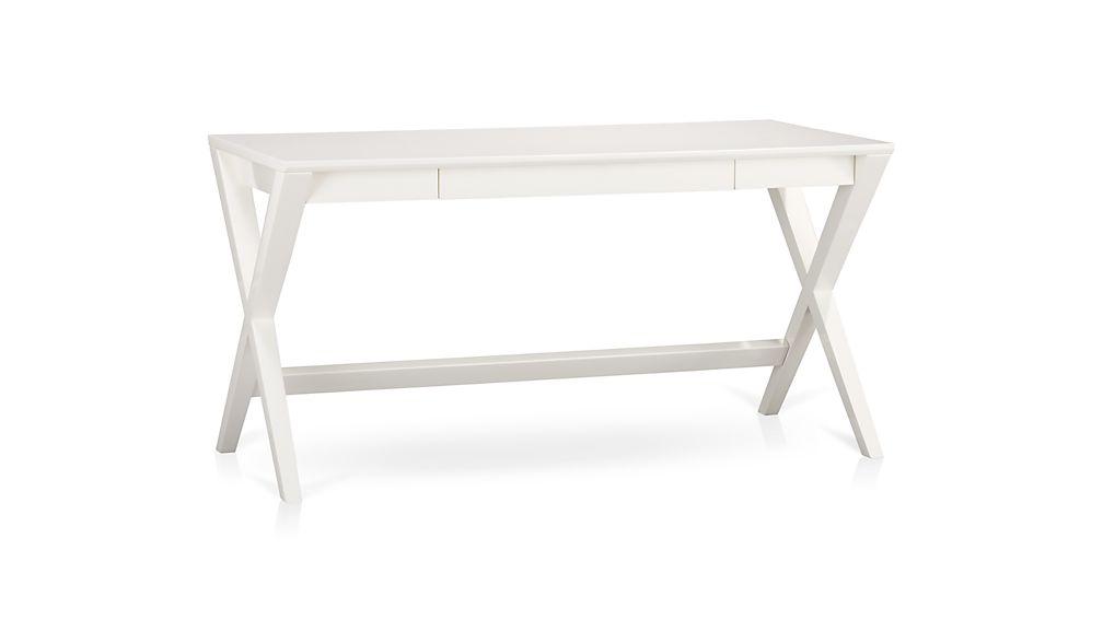 Unique Spotlight White X-Leg Desk 58