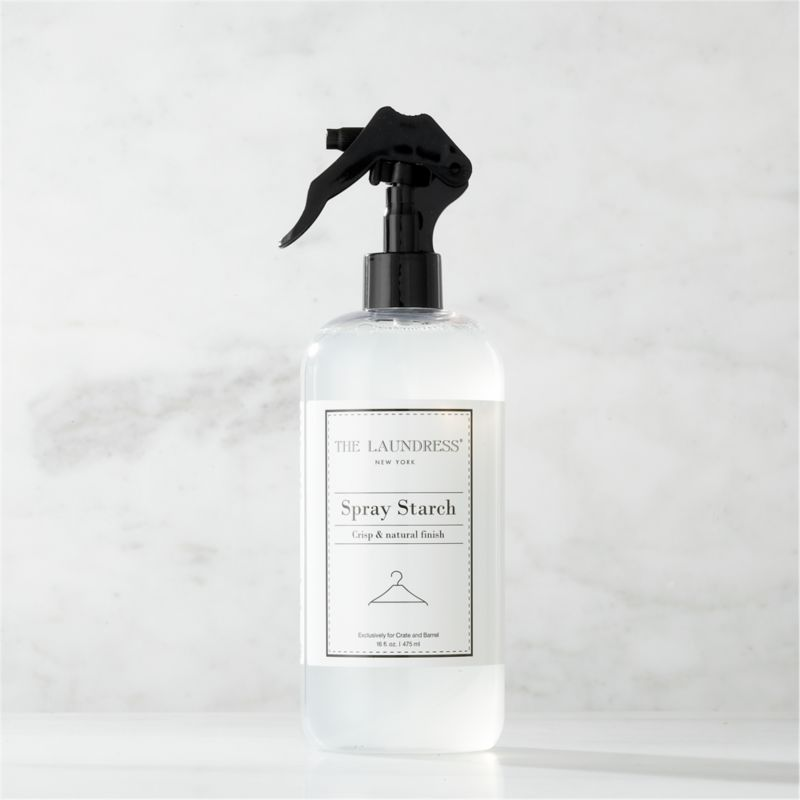 Make trips to the dry cleaner a thing of the past. Formulated exclusively for Clean Slate™, this ultra-gentle, eco-friendly spray starch by The Laundress® is subtly infused with the scent of lavender. Light-to-medium starch formula adds body and refreshes clothing and linens with a crisp finish without the weakening fabrics or leaving the buildup of most commercial starches. It also helps fabrics resist soil and promotes easy ironing. The plant-based formula is 100% biodegradable, non-toxic and allergen-free with no artificial colors or dyes, making it a kind choice for both the environment and sensitive skin.<br /><br /><NEWTAG/>The Laundress® was dreamt up by two graduates from Cornell University's Fiber Science, Textile and Apparel Management and Design program. Frustrated with the financial and environmental cost of dry cleaning, the pair researched and developed eco-conscious formulas designed to properly care for every item in your closet.<br /><ul><li>Formulated exclusively for Clean Slate™ by The Laundress®</li><li>Light-to-medium spray starch won't build up or weaken fabrics</li><li>Cornstarch-based formula is 100% biodegradable, non-toxic and allergen-free with no artificial colors or dyes</li><li>Subtly scented with lavender</li><li>Plastic container is BPA-free</li><li>Made in USA</li></ul>