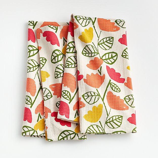 Spring Flowers Dish Towels, Set of 2 - Image 1 of 4