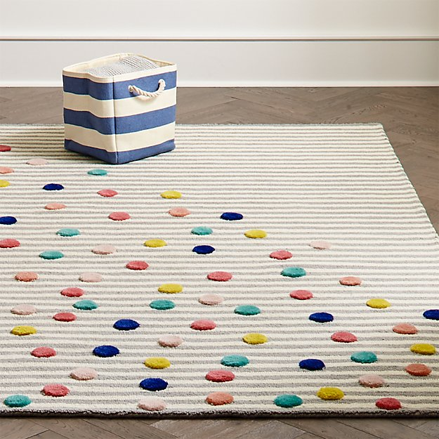 Sprinkled Stripes Kids Rug Crate And Barrel