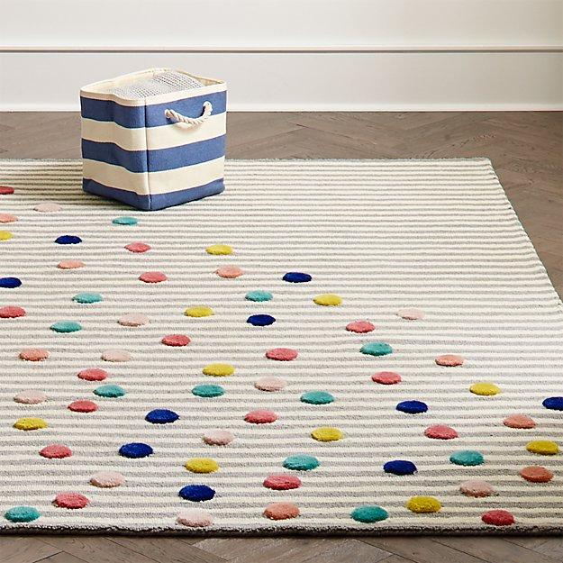 Sprinkled Stripes Kids Rug Crate And Barrel