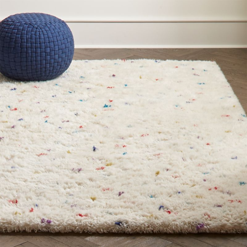 Sprinkles Multi Color Shag Rug Crate And Barrel