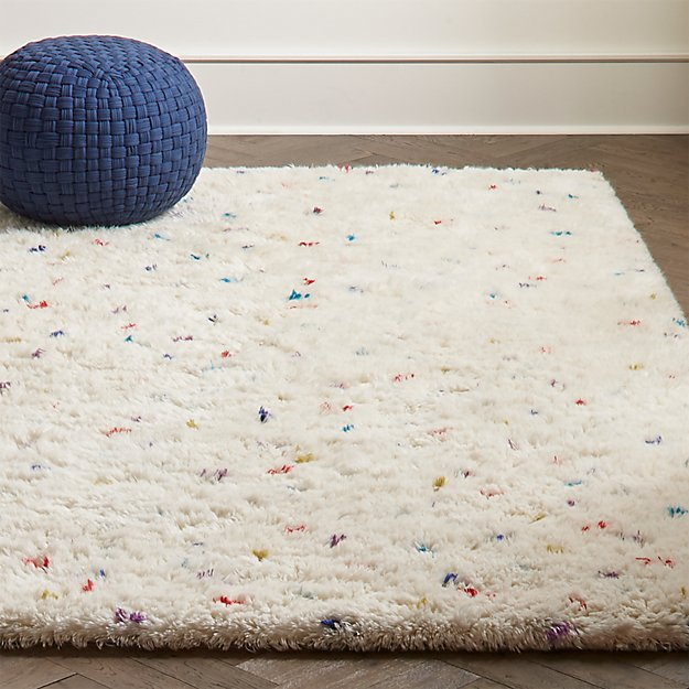 Sprinkles Multi Color Shag Rug Crate And Barrel