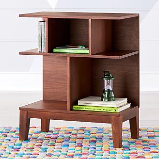 Sprout Geometric Small Walnut Bookcase