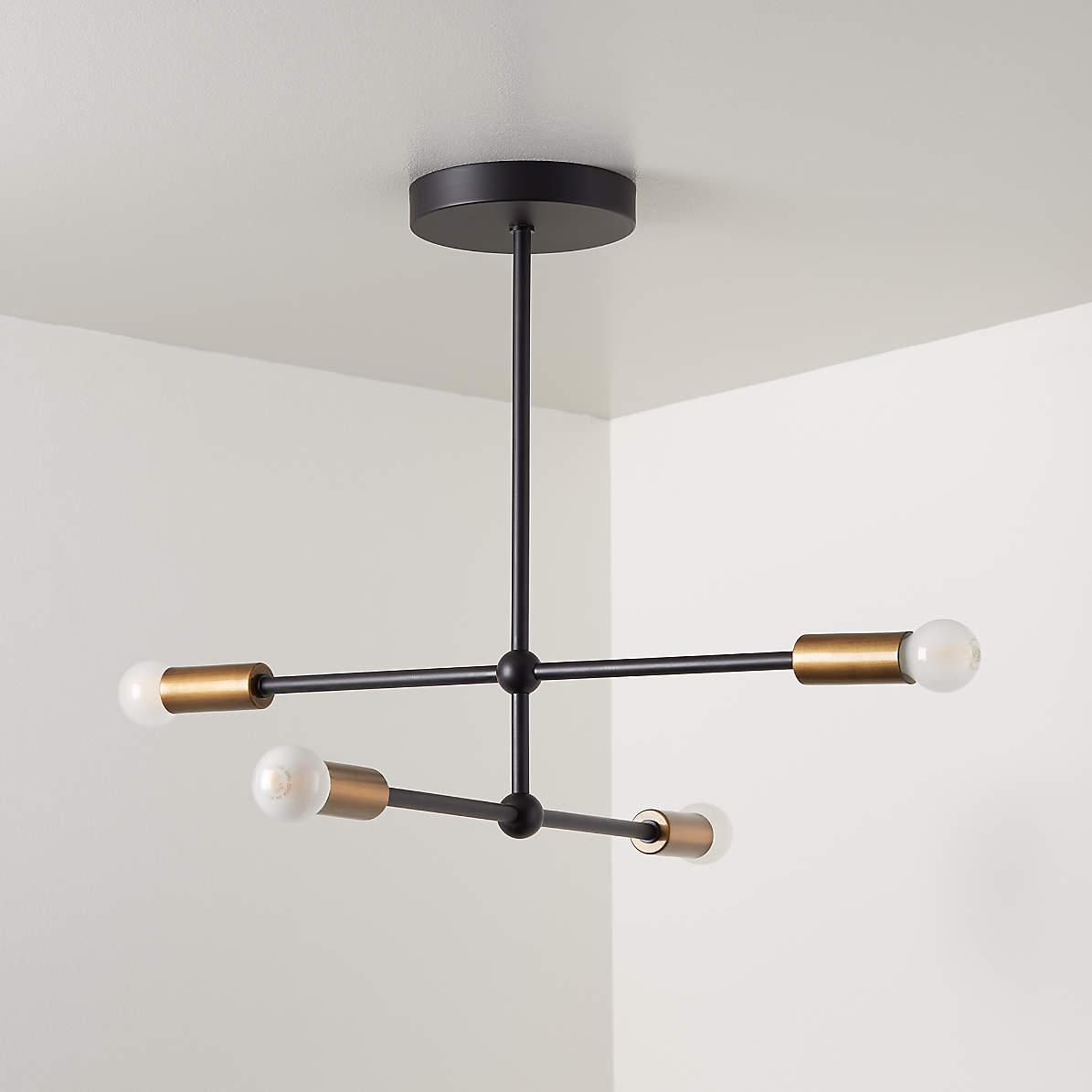 Image of: Sputnik Black Flush Mount Ceiling Light Reviews Crate And Barrel