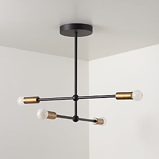 Sputnik Black Flush Mount Ceiling Light