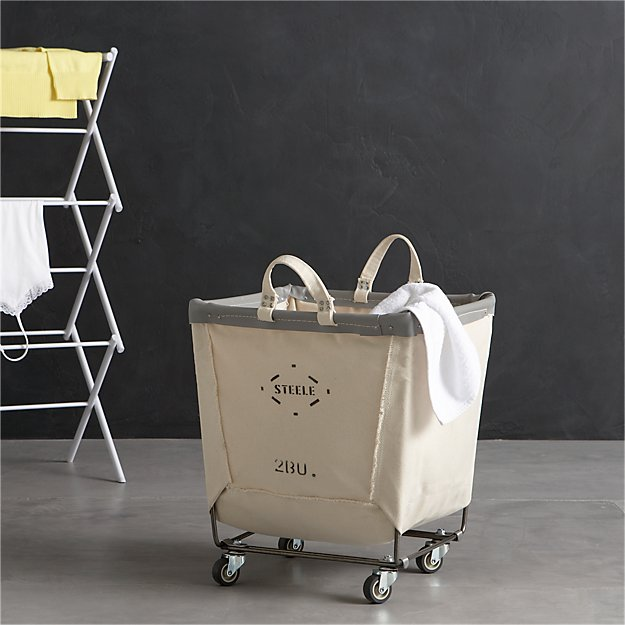 Steele Square Canvas Bin Reviews Crate And Barrel