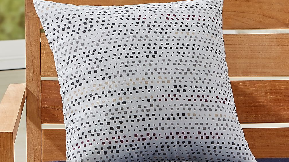 "Square Dots 20"" Sq. Outdoor Pillow - Image 1 of 4"