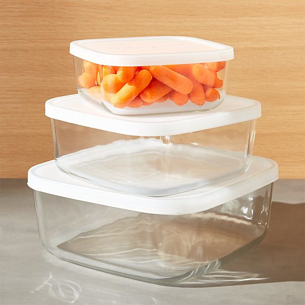3-Piece Glass Storage Container Set - Image 1 of 6