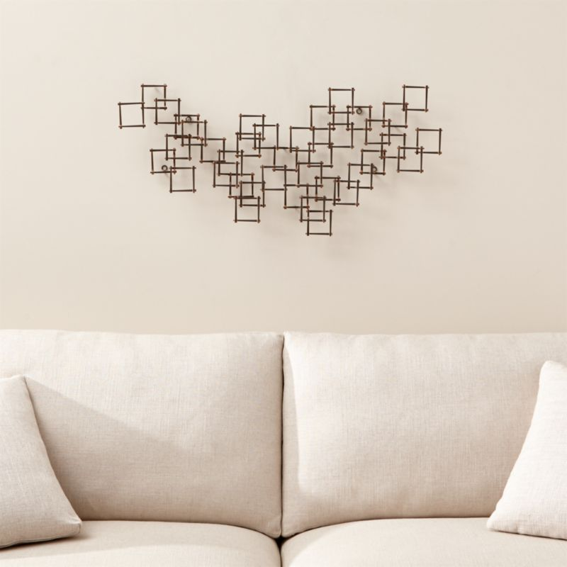 Squares Nail Metal Wall Art Reviews Crate and Barrel