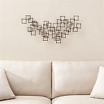 Squares Nail Metal Wall Art