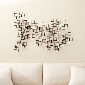 Squares Nail Wall Art, Set of 3