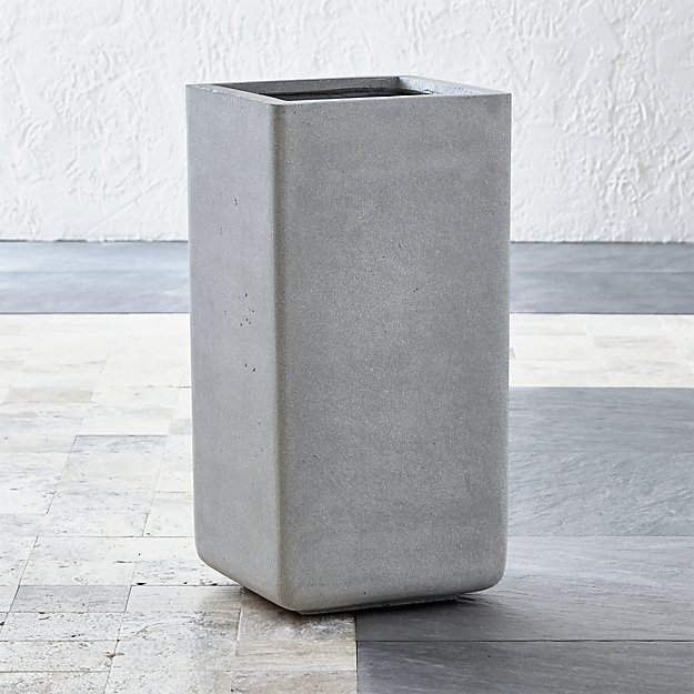 Square Tall Planter Reviews Crate And Barrel