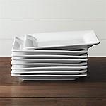 Square Rim 10.25  Plates, Set of 8