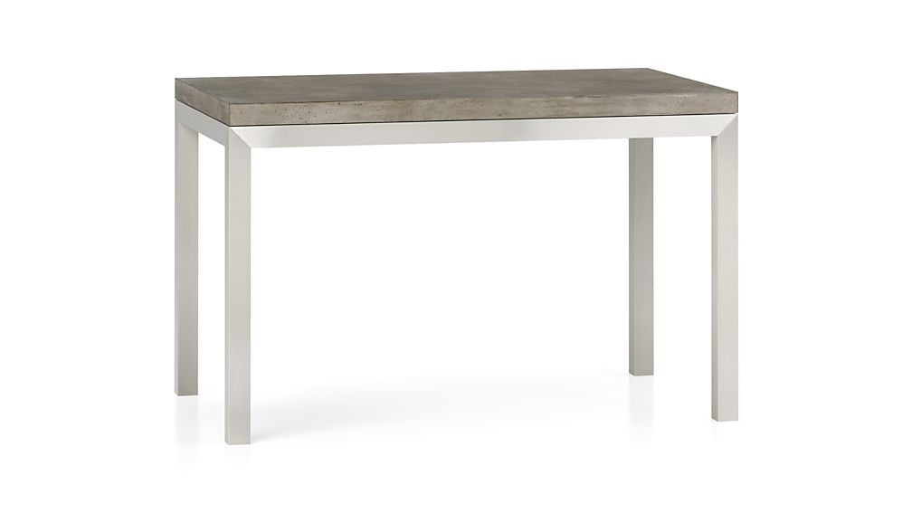 Parsons Concrete Top Stainless Steel Base 60x36 Dining Table
