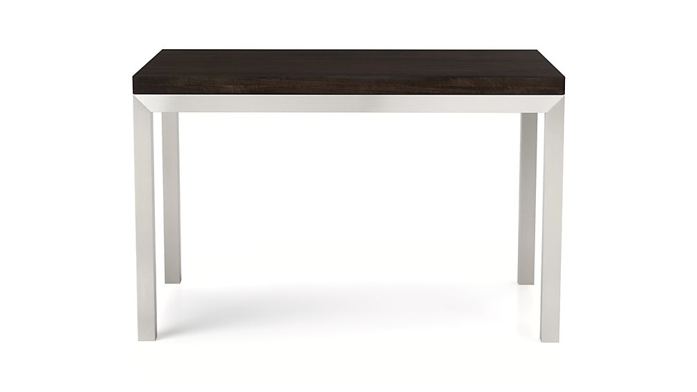 Parsons Myrtle Top/ Stainless Steel Base 72x42 Dining Table