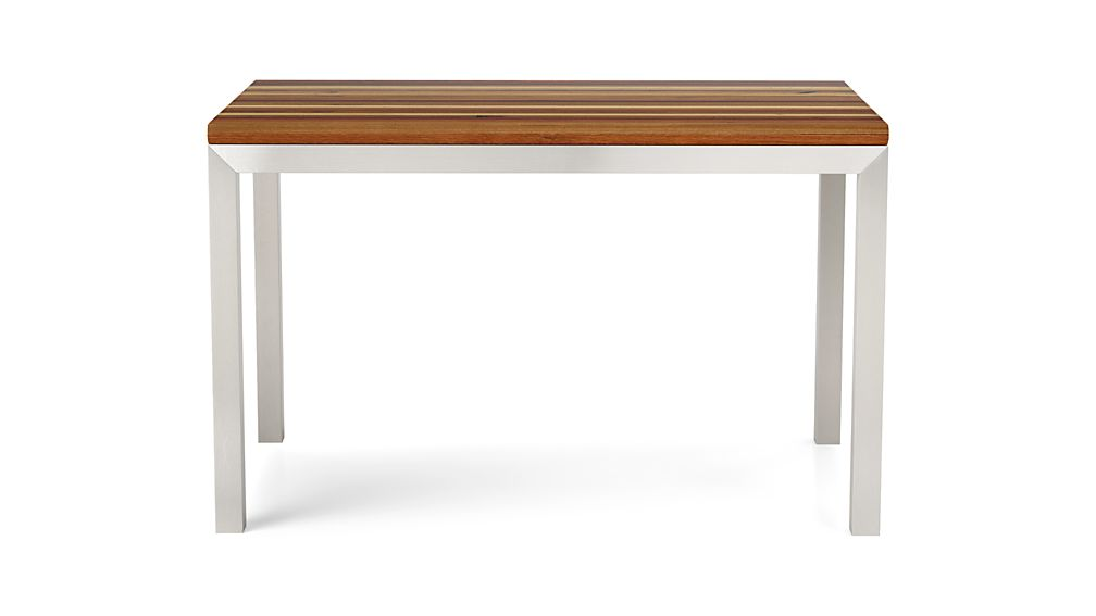 Parsons Reclaimed Wood Top/ Stainless Steel Base 48x28 Dining Table
