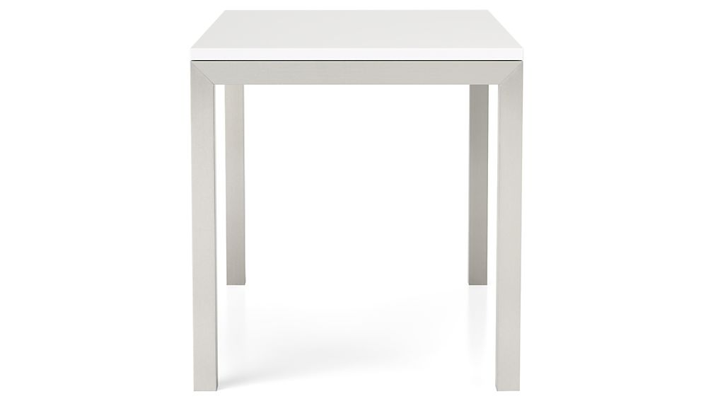 Parsons White Top/ Stainless Steel Base 60x36 Dining Table