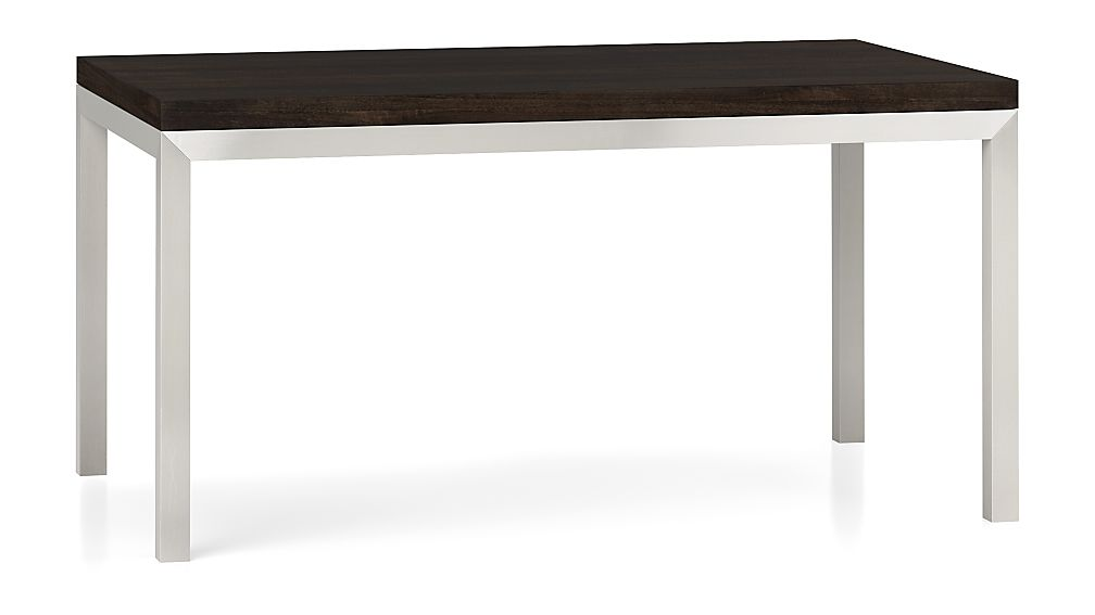 Parsons Myrtle Top/ Stainless Steel Base 60x36 Dining Table