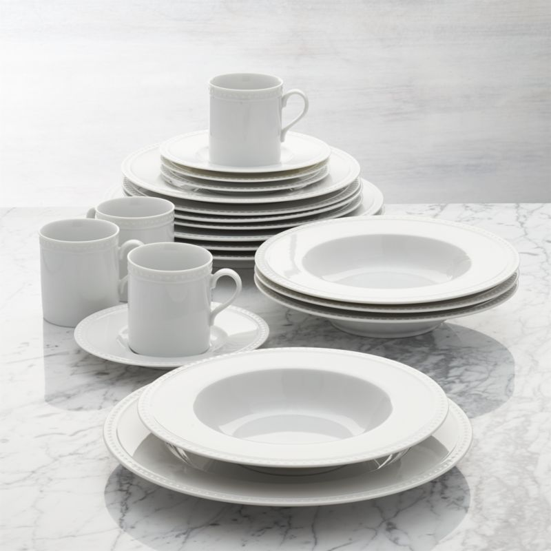 & Staccato 20-Piece Dinnerware Set + Reviews | Crate and Barrel