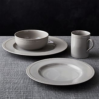 Staccato Grey 4-Piece Place Setting