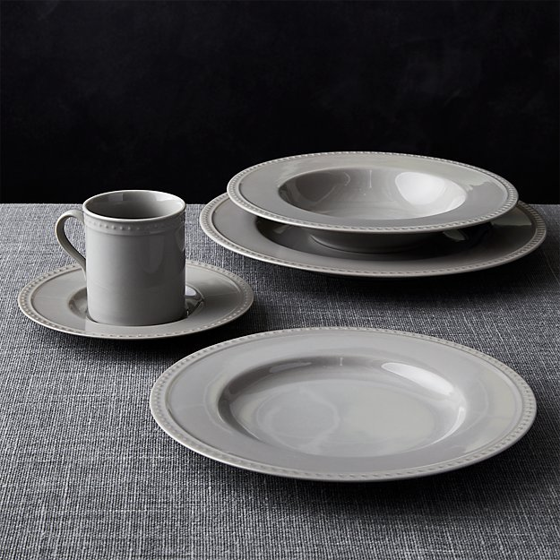 Staccato Grey 5-Piece Place Setting