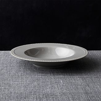 Staccato Grey Low Bowl