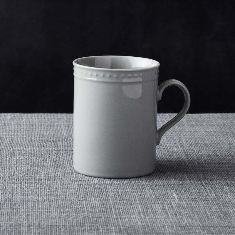 Staccato Grey Mug Reviews Crate And Barrel