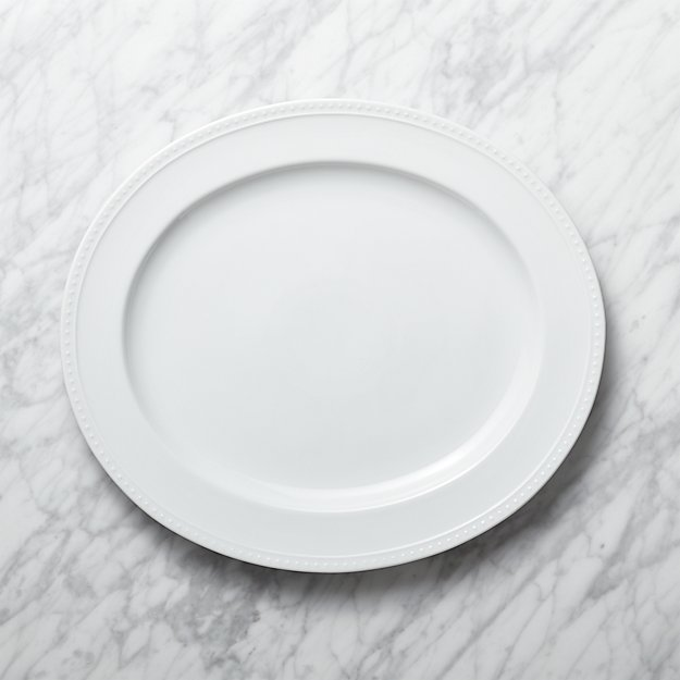 Staccato White Oval Serving Platter Reviews Crate And Barrel