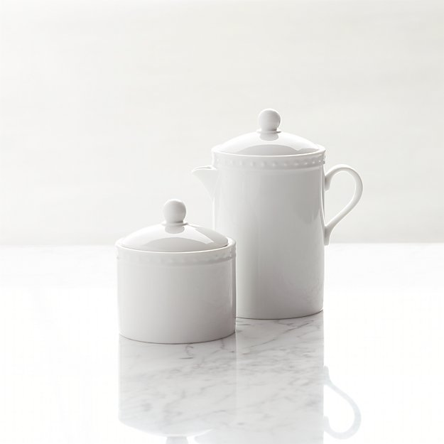 Staccato Sugar and Creamer - Image 1 of 2