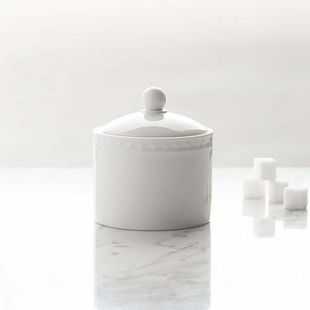 Staccato Sugar Bowl with Lid - Image 1 of 3